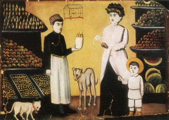 Нико́ Пиросма́ни - Татарский торговец фруктами