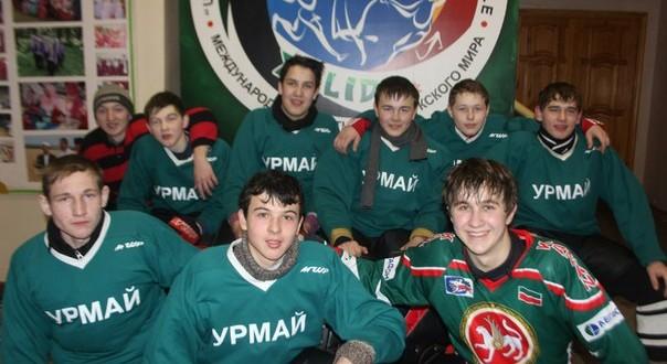 В олимпийские дни в Урмаево состоялся матч по хоккею
