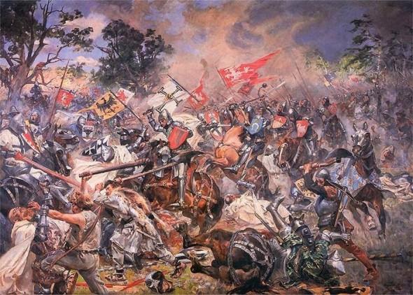 Грюнвальдская битва 1410 г. Картина Ян.Матейко (1878)