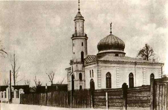 Мечеть на открытке. Начало ХХ в.