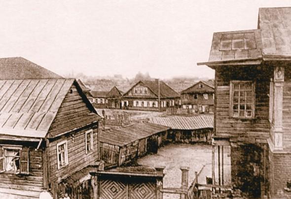 Вид на Татарскую слободу со стороны замковой горы.
