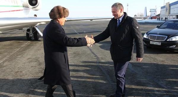 Алексей Кокорин встретил Президента Татарстана Рустама Минниханова, прибывшего в Курган
