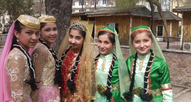 In a multinational Uzbekistan holiday of spring Nowruz widely celebrated