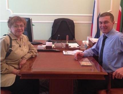 София Ялышева в гостях в представительстве Татарстана