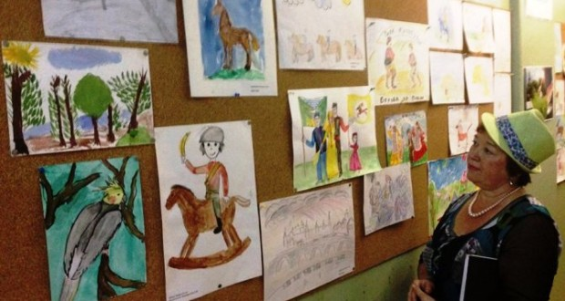 The exhibition of children's drawings dedicated to Sabantui