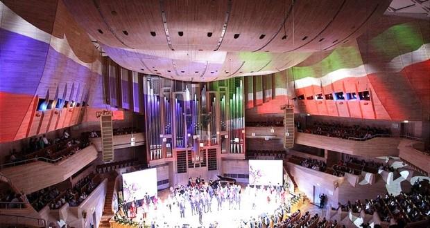 Рустам Минниханов и Сергей Собянин посетили гала-концерт мастеров искусств Татарстана в Москве