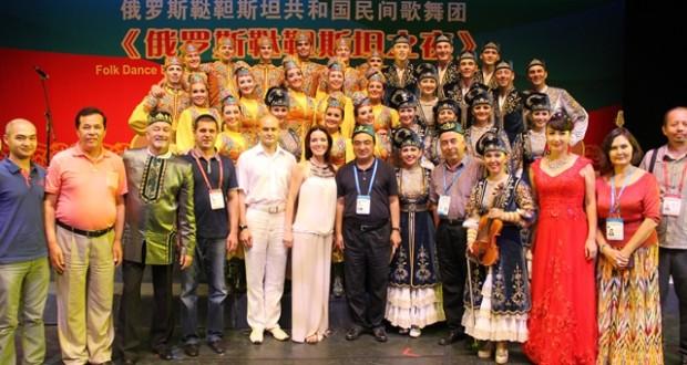 Ансамбль фольклорной музыки вернулся из Китая