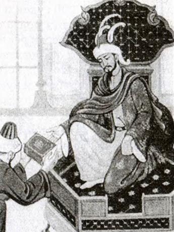 «Золотая Орда времен хана Берке — золотой век не только в татарской истории» (Берке, работа современного художника)