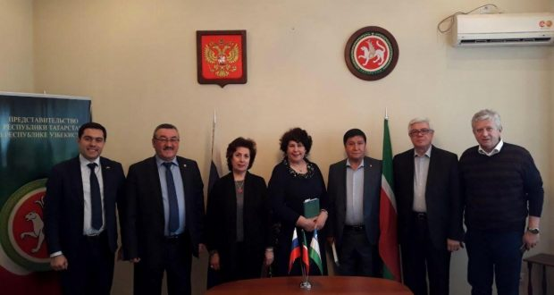 At representation office meeting with guests from the Republic of Tatarstan held