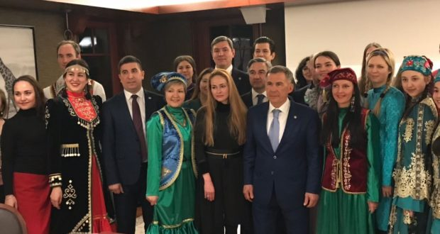 President of Tatarstan spoke with the Tatars of Switzerland