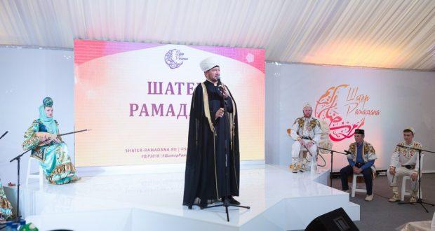 Торжественное открытие Шатра Рамадана рядом с мечетью Шухада в Москве