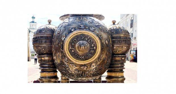 На Баумана появилась скульптура с надписью «Бәхет сиңа»