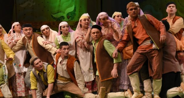 On the stage of the Uzbek National Academic Drama Theater  the tour of the theater G. Kamal  to take place