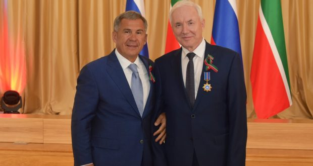 "Rinat Zakirov  has been  awarded the order ""Duslyk (Friendship)"""