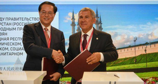 Рөстәм Миңнеханов: Татарстан Кытай провинцияләре белән актив хезмәттәшлек итә