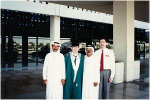 Исмагил Шангареев и Равиль Гайнутдин с арабскими друзьями (1990 г.).