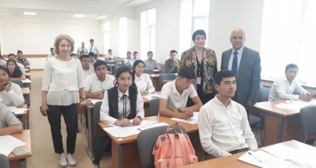 В Национальном университете Узбекистана в Ташкенте  прошли тестовые испытания и собеседование  Института управления, экономики и финансов К(П)ФУ