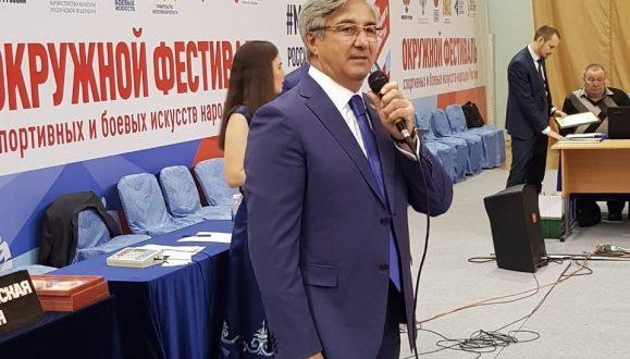 Vasil Shaikhraziyev took part in the opening of Koresh wrestling in Yekaterinburg